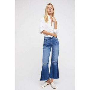 New Free People 3x1 Higher Ground Crop Jeans